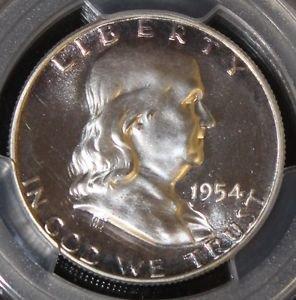 1954 Proof 67 Cameo PCGS Graded Franklin Half Dollar