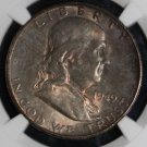 1949 S MS 65 Tone Full Bell Line High Grade NGC Key Date Franklin Half Dollar