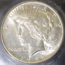 1922 S MS 64 Choice Brilliant Uncirculated Plus Certified Peace Silver Dollar