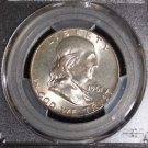 1961 PCGS Graded MS 65 Franklin Silver Half Dollar