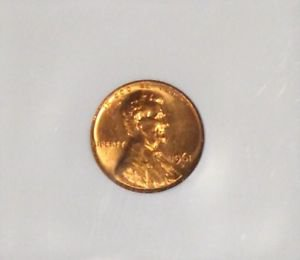 1961 D MS 66 Brilliant Red Lincoln Memorial Cent