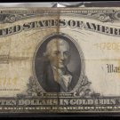 1922 Fr # 1173 Very Good/Fine Ten Dollar Gold Certificate