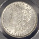 1882 O/S AU 58 VAM 3 Top 100 Doubled Date Flush O over S Morgan Silver Dollar