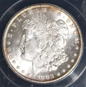 1883 CC VAM 5 A MS 65 Gem Carson City Morgan Silver Dollar