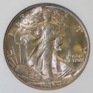 1945 MS 64 Rosed Toned NGC Graded Walking Liberty Silver Half Dollar