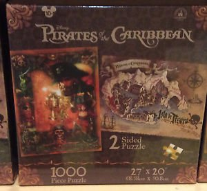 Disney Parks 1000 pc Pirates of the Caribbean 2-Sided Puzzle 27x20 NEW