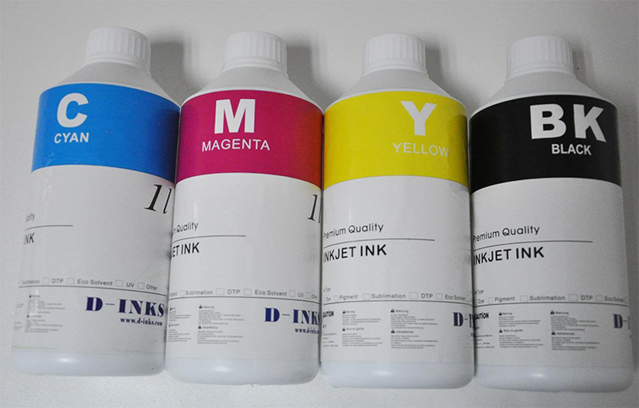 Dye Sublimation Ink For Mutoh Printers  4 Colors / 8 Liters
