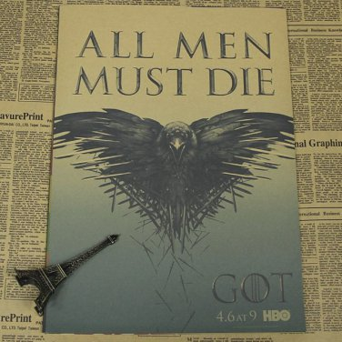 """Game of Thrones Vintage Paper Retro Poster Home Wall Sticker Decor 12""""x8"""" Gift"""