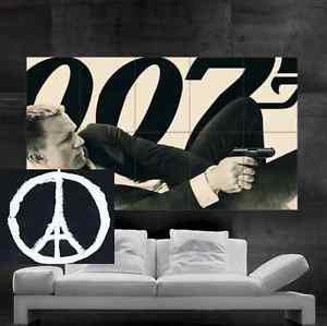 James Bond 007 Daniel Craig Retro Style Poster art 10 parts Christmas Gift