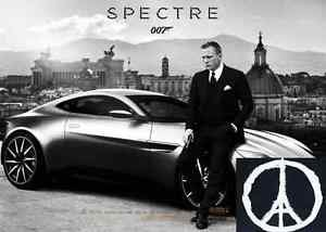 James Bond 007 Spectre Movie Car PRITING POSTER Custom Poster 40x60cm Christmas