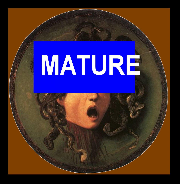 Caravaggio (1595) Greek Myth Medusa Monster Handmade 3X3 Giclee Art Print Sew on Patches FREE S/h