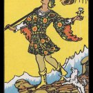 0 The Fool Rider Waite RWS Tarot Handmade 3x4 Giclee Art Print Sew on Patches FREE S/h