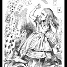 Fantasy Alice Adventures in Wonderland Handmade 3X4 Giclee Art Print Sew on Patch FREE S/h