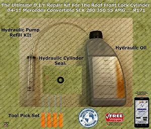 04 11 Mercedes Slk Convertible Hydraulic Cylinder Repair