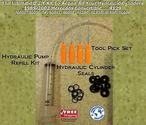 90-93 Mercedes 500SL Hydraulic Cylinder Repair Kit for Convertible  +...R129