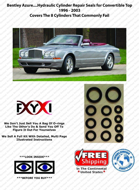Bentley Azure Convertible Top Hydraulic Cylinder Repair Kit..1996-2003