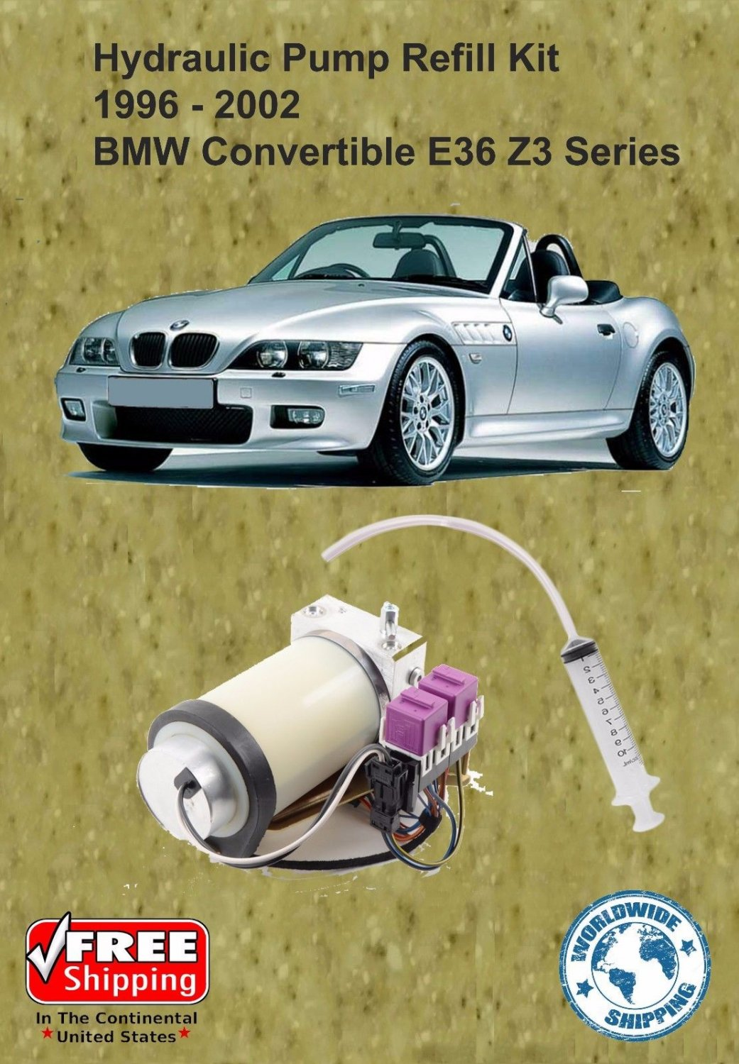 96 02 Bmw Z3 Series Hydraulic Pump Refill Kit Convertible