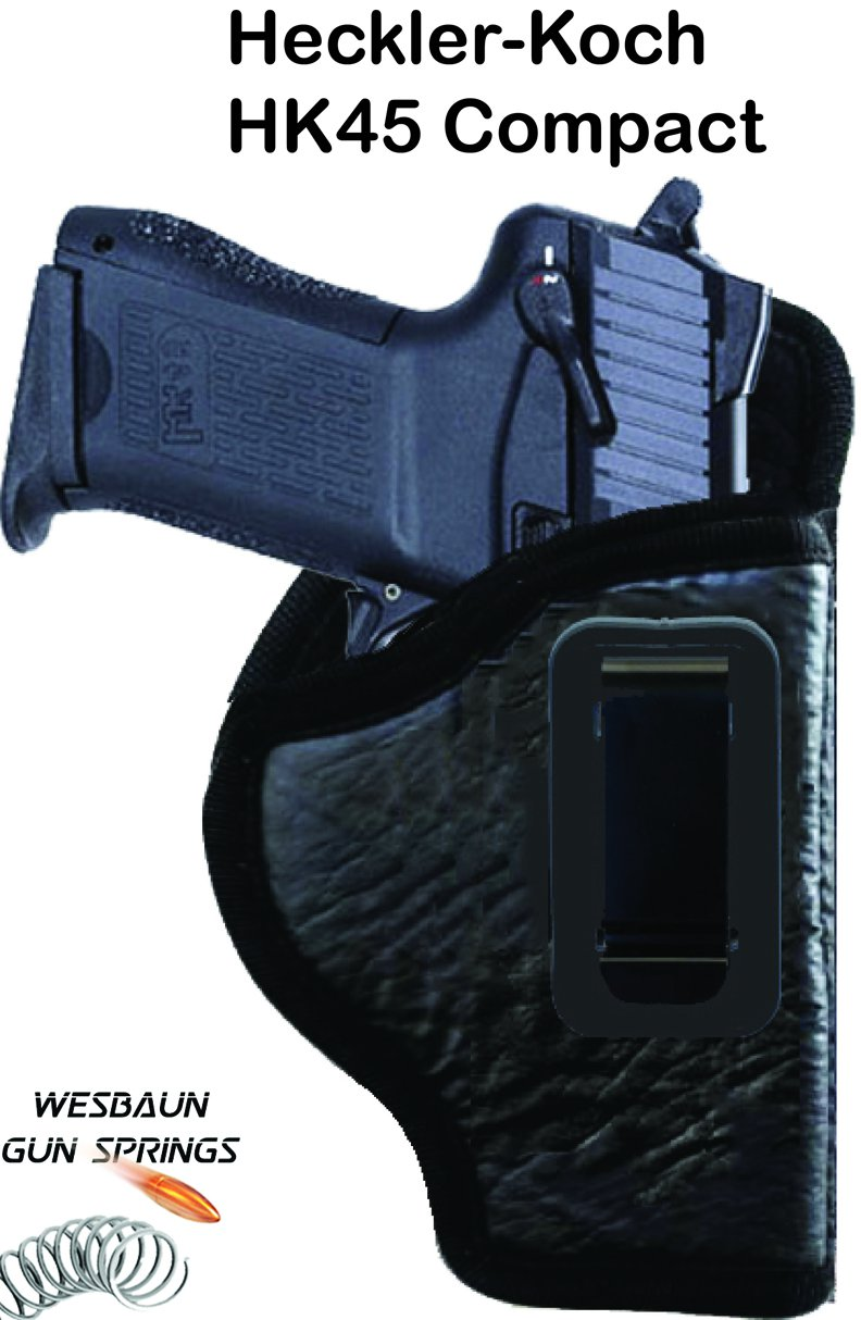 Heckler-Koch HK45 Compact - IWB *Inside Waistband* Soft Leather Gun Holster Concealed Carry