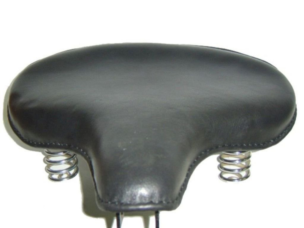 Brand New Black Leather Solo Saddle Style Large Fits Royal Enfield