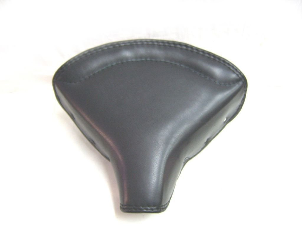 Brand New Front Solo Seat Black Leather-Chrome Pre 1950s Fits Royal Enfield