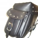 Beand New Leather Saddle Bag Stylish Studs Fits Royal Enfield