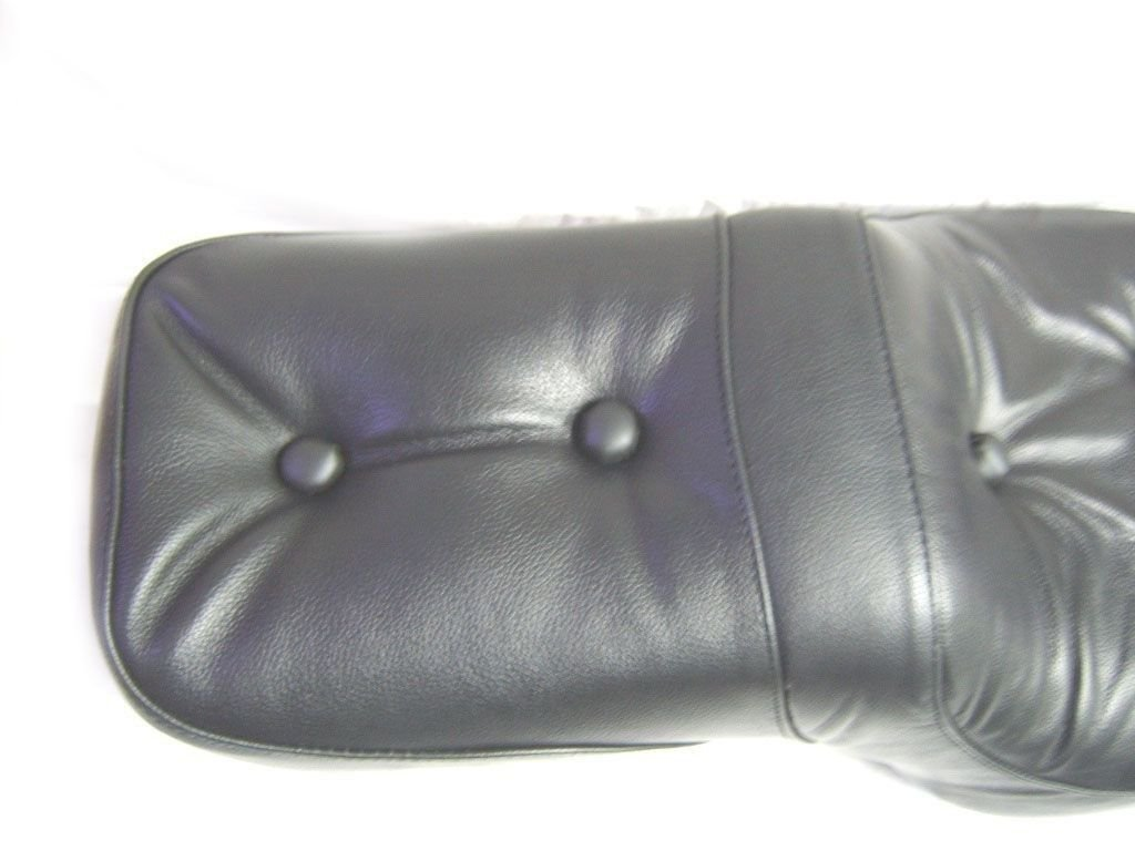 Black Leather Seat Handcrafted King & Queen Seat For Royal Spares