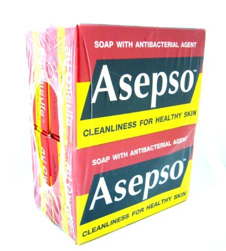 4x Asepso Soap with Antibacterial Agent Cleanliness for Healthy Skin Original Made in Thailand