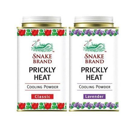 Prickly Heat Powder Snake Brand (150 gram) 2-pack