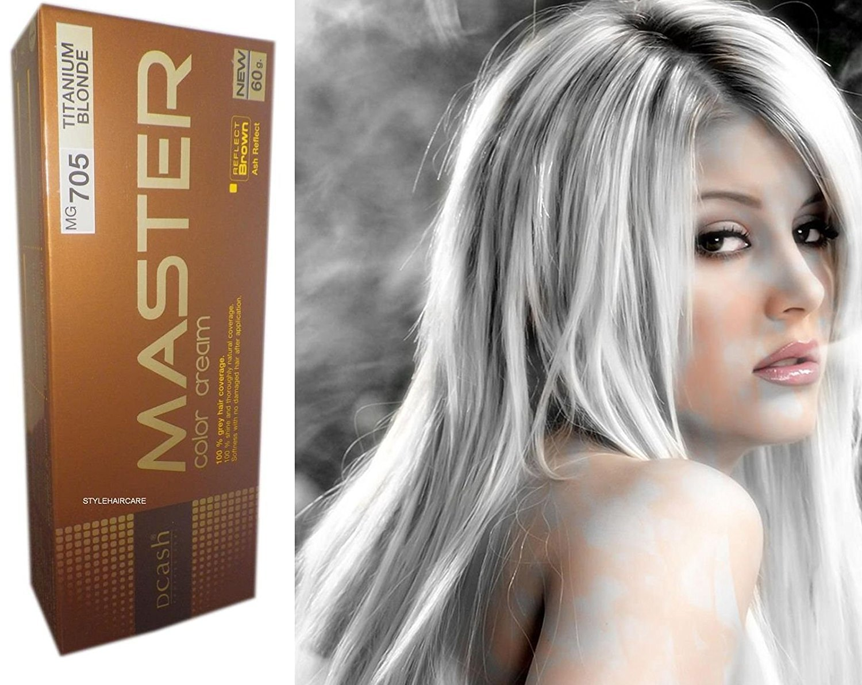 MG705 Hair Colour Permanent Hair Cream Dye Silver Titanium Blonde NEW