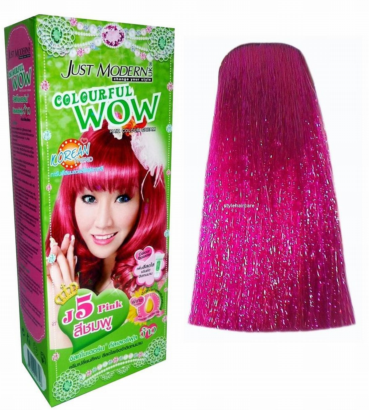 Hair Colour Permanent Cream Dye Punk Emo Goth Cosplay Pink