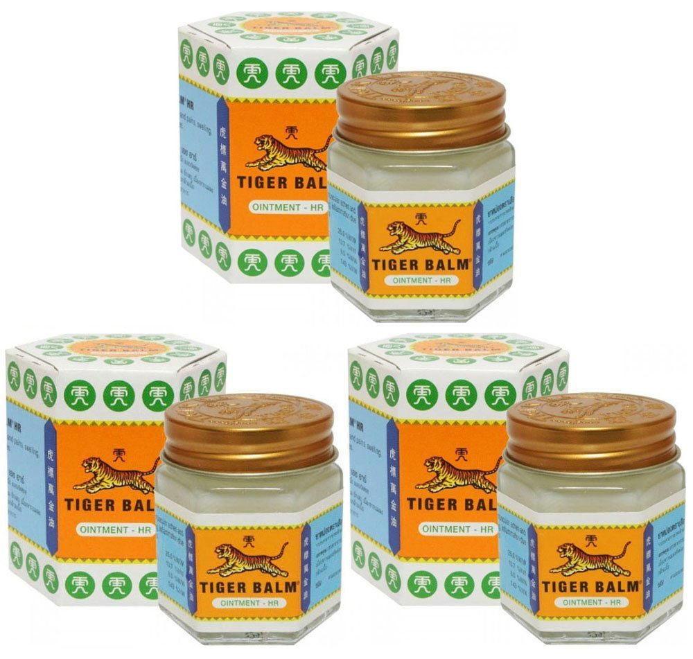 3 Jars of Tiger Balm White Ointment 30g/Jar (Large Jar!)