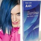 Berina Permanent Hair Dye Color Cream # A41 Blue Made in Thailand