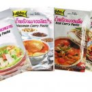 Thai Masman, Green, Panang , Red Curry Paste 50g Each