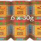 6 Big Jar Tiger Balm Red 30g Original Thai Massage for pain relief & insect bite+Free Shipping World