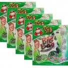 5 x Packs Crispy Seaweed Original Flavour Tao Kae Noi Brand- 6x4g Sheets Per Pack