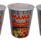 Mama Cup Shrimp Tom Yum Flavored Instant Noodles 60g x 3 Pieces