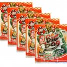 5 x Packs Crispy Seaweed Grilled Squid Flavour Tao Kae Noi Brand - 6x4g Sheets Per Pack