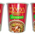 Mama Cup Moo Nam Tok Flavored Noodles 60g - Thai Snack.