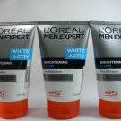 L'Oreal Paris Men Expert White Active Brightening Foam (100ml) Pack of 3
