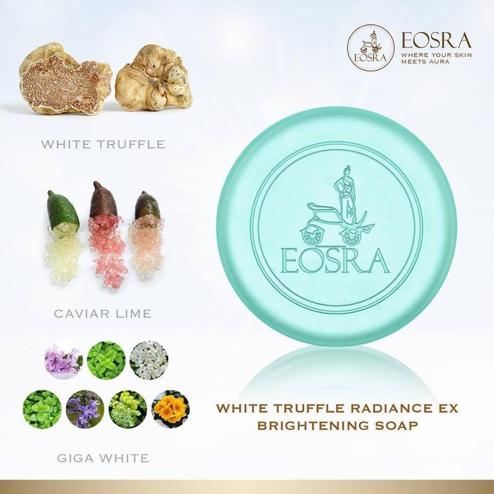 EOSRA White Truffle Radiance Ex Brightening Soap for dark spots and uneven skin tone.