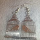 Silver Birdcage Earrings