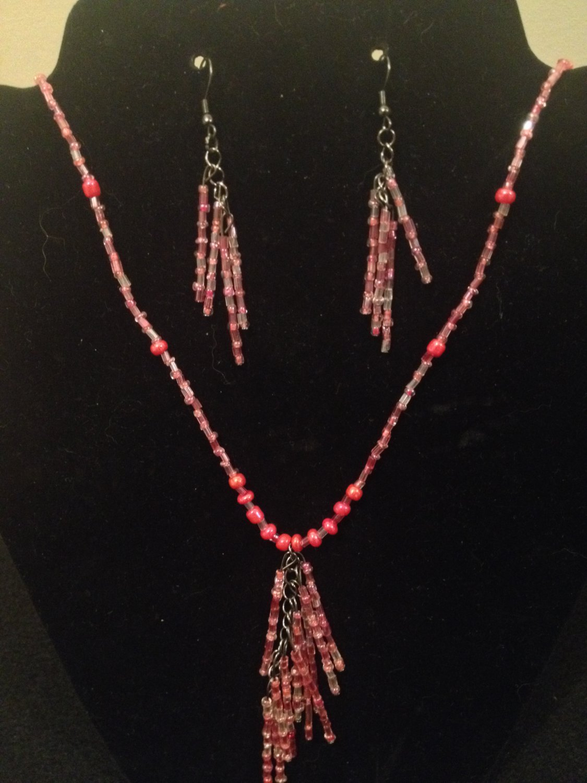 Pink Beaded Set