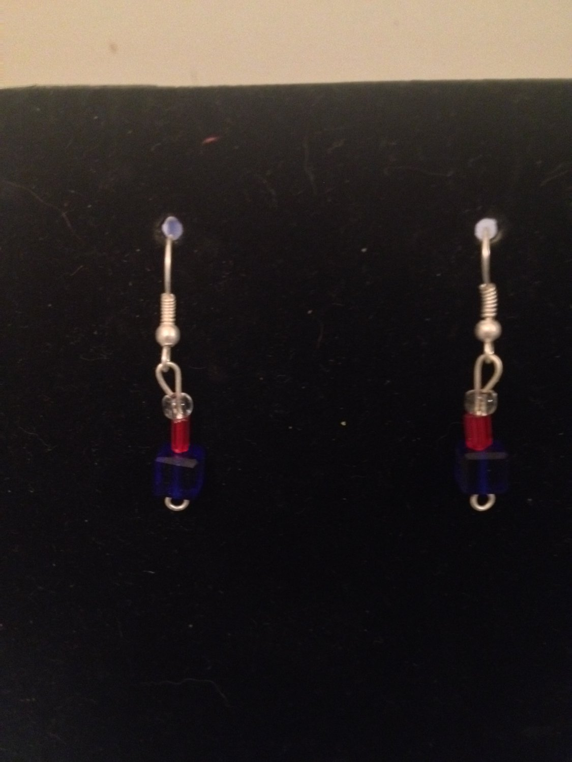 Small Red, White, Blue Earrings