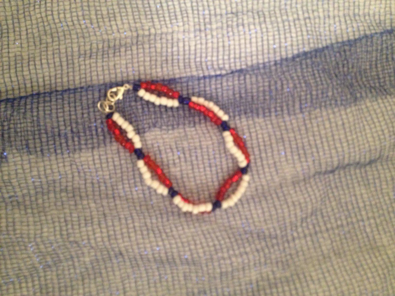 Red, White, Blue Bracelet