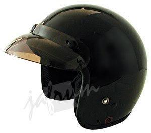10Black - Black DOT Open Face Motorcycle Helmet