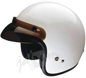 10White - White DOT Open Face Motorcycle Helmet