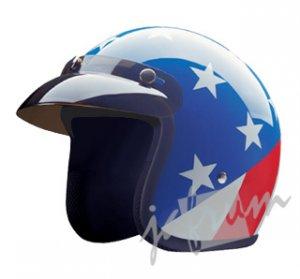 10Captain - Captain America DOT Motorcycle Helmet