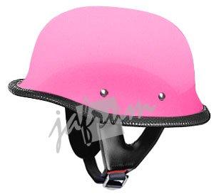 115Pink - Pink DOT German Motorcycle Helmet