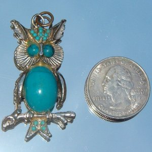 OWL on a BRANCH PENDANT  (FIG97)