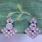 ANTIQUE ART DECO RHINESTONE EARRINGS  (E128)